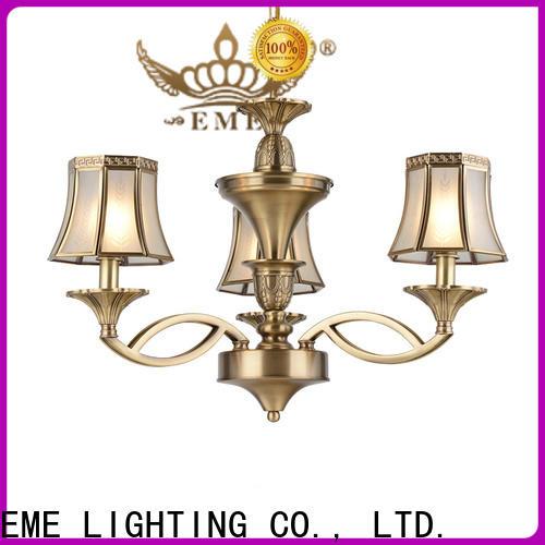 EME LIGHTING copper brushed brass chandelier traditional