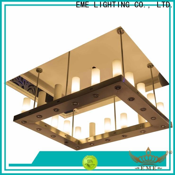 EME LIGHTING customized round crystal chandelier latest design for lobby