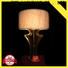 elegant glass table lamps for living room decorative copper material