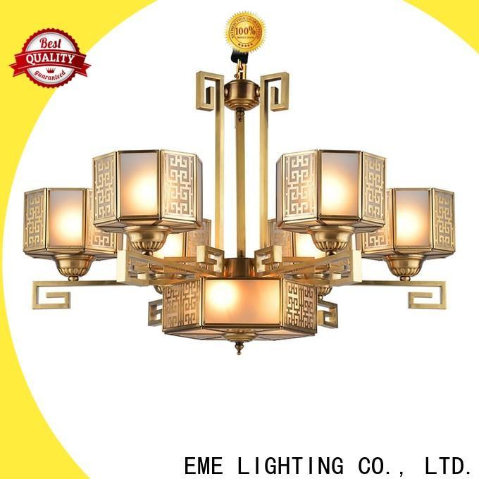 EME LIGHTING luxury brushed brass chandelier European