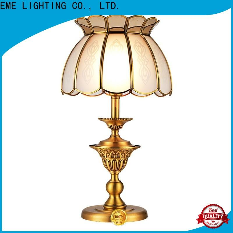 EME LIGHTING contemporary glass table lamps for bedroom factory price for study