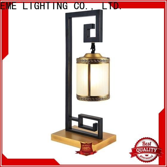 EME LIGHTING elegant oriental table lamps flower pattern for bedroom