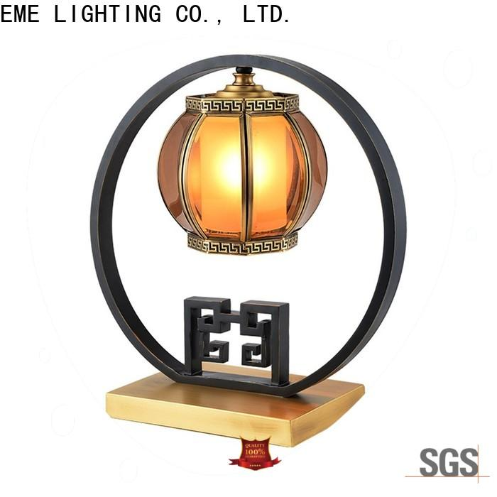 decorative oriental table lamps glass colored for restaurant