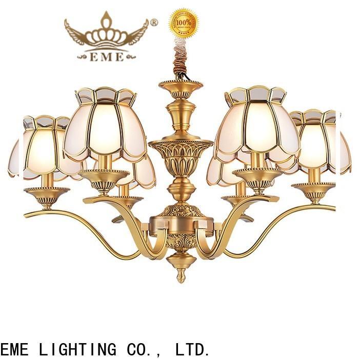 EME LIGHTING concise brushed brass chandelier vintage for big lobby
