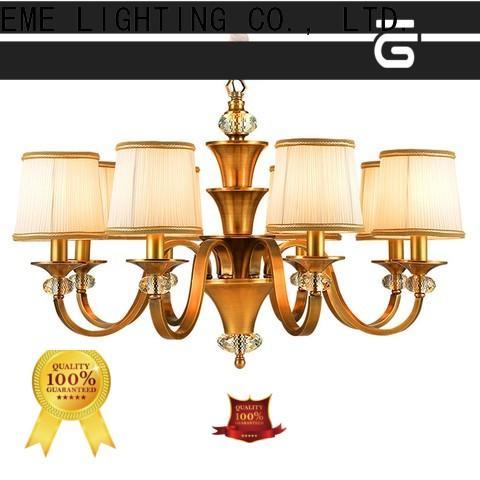 EME LIGHTING luxury brushed brass chandelier residential for dining room