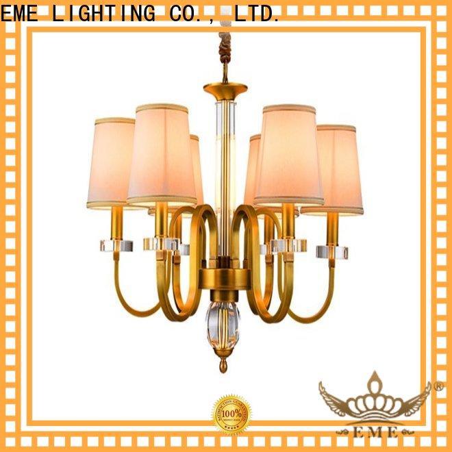 EME LIGHTING large vintage brass chandelier residential