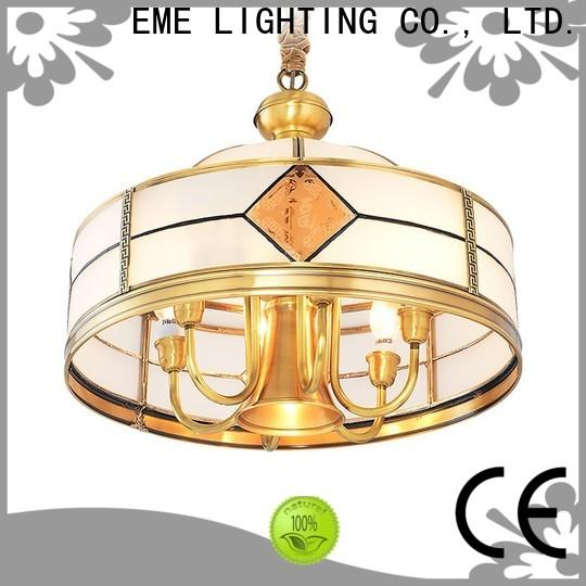 luxury brushed brass chandelier copper round for big lobby