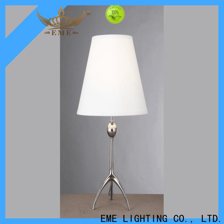 elegant wood table lamp modern European style copper material for room