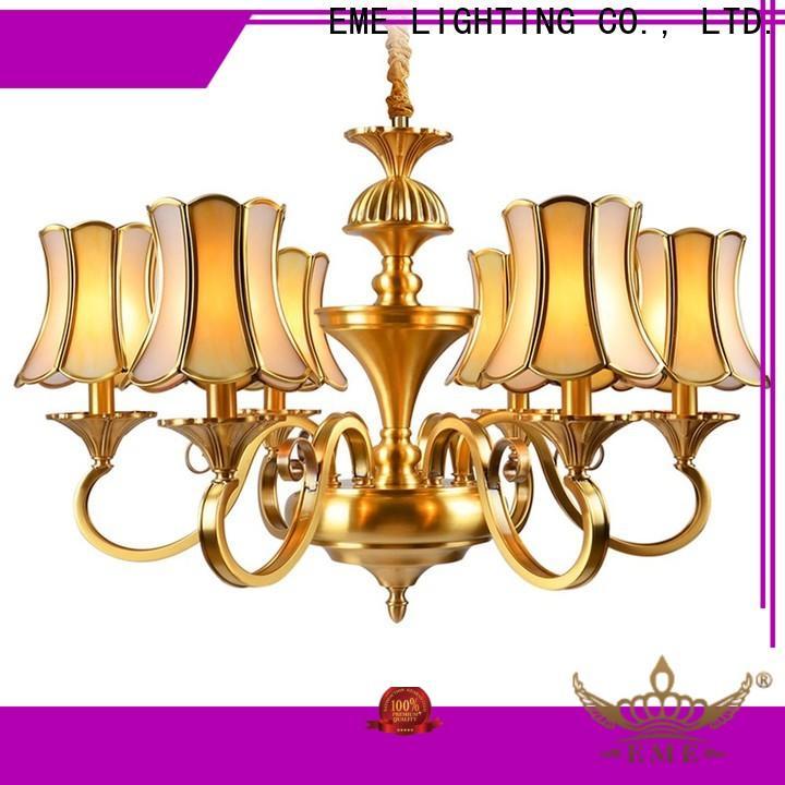 EME LIGHTING american style bronze crystal chandelier vintage for big lobby