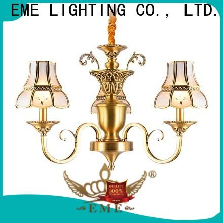 EME LIGHTING copper chandelier over dining table traditional for home