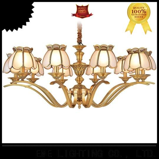 EME LIGHTING american style bronze crystal chandelier unique for dining room