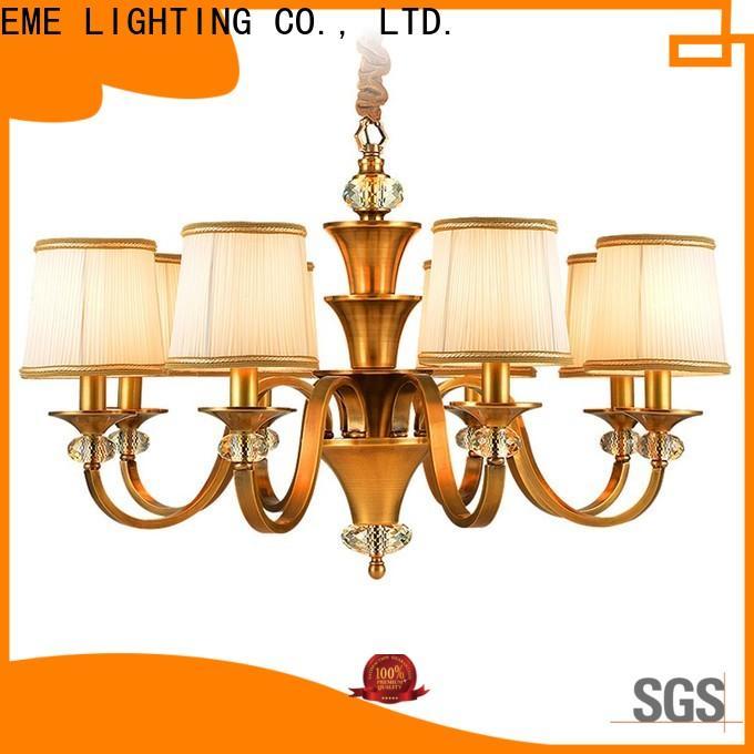 EME LIGHTING glass hanging vintage brass chandelier unique