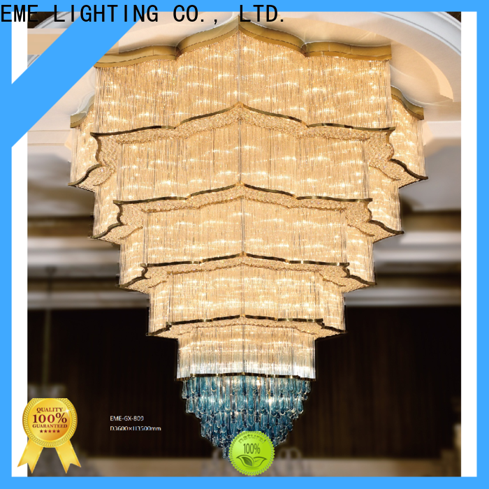 customized chandelier ceiling light round for lobby