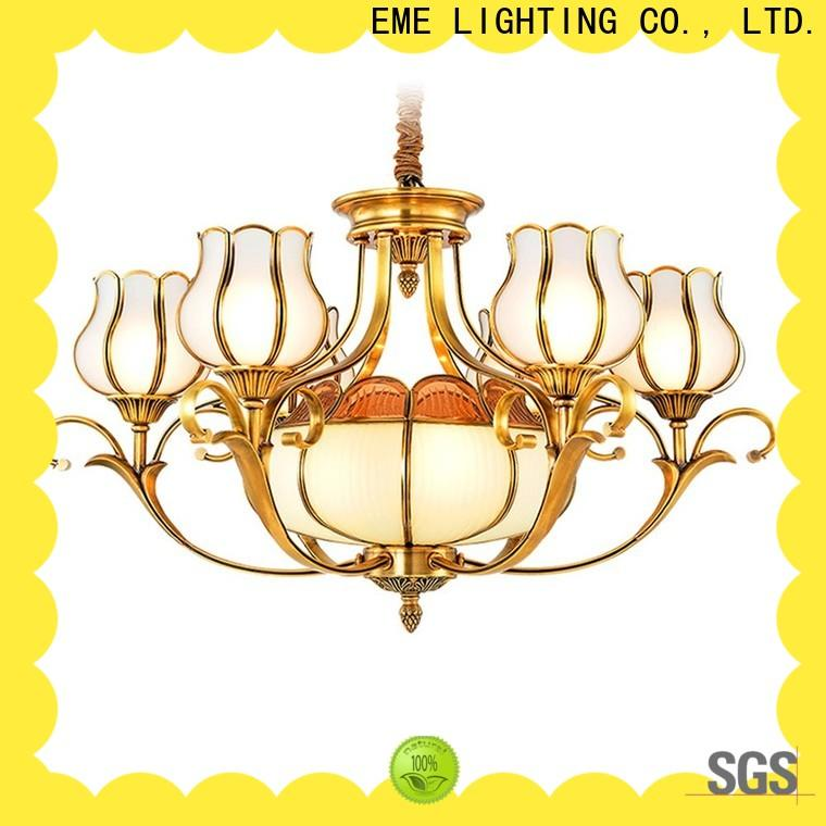 EME LIGHTING american style antique brass chandelier residential for dining room
