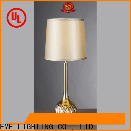 black colored table lamp luxury flower pattern for bedroom