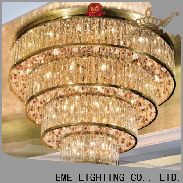 EME LIGHTING round acrylic crystal chandelier bulk production for dining room