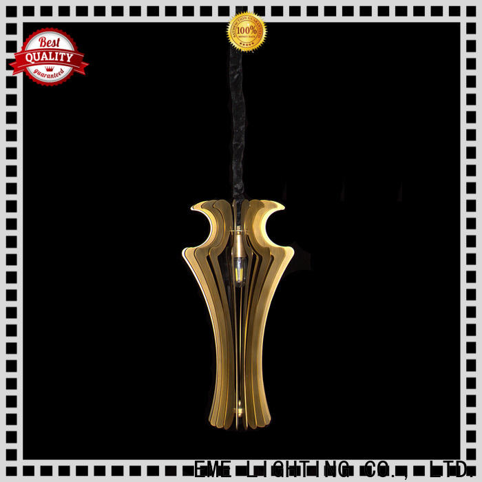 EME LIGHTING elegant copper and glass pendant light at discount for rest room