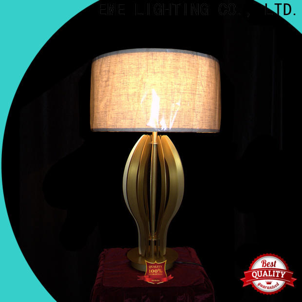EME LIGHTING contemporary glass table lamps for living room copper material