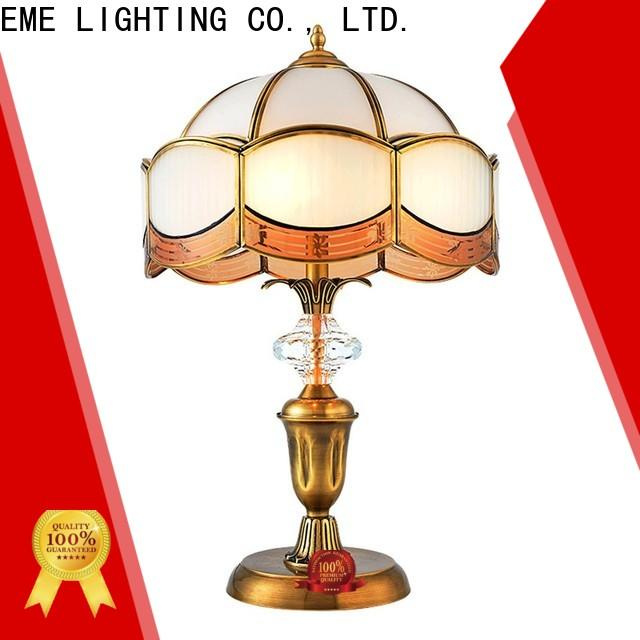 contemporary glass table lamps for living room European style brass material for study