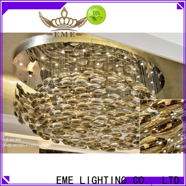 EME LIGHTING custom color gold brass chandeliers for lobby