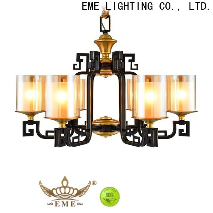 EME LIGHTING luxury brushed brass chandelier unique for big lobby