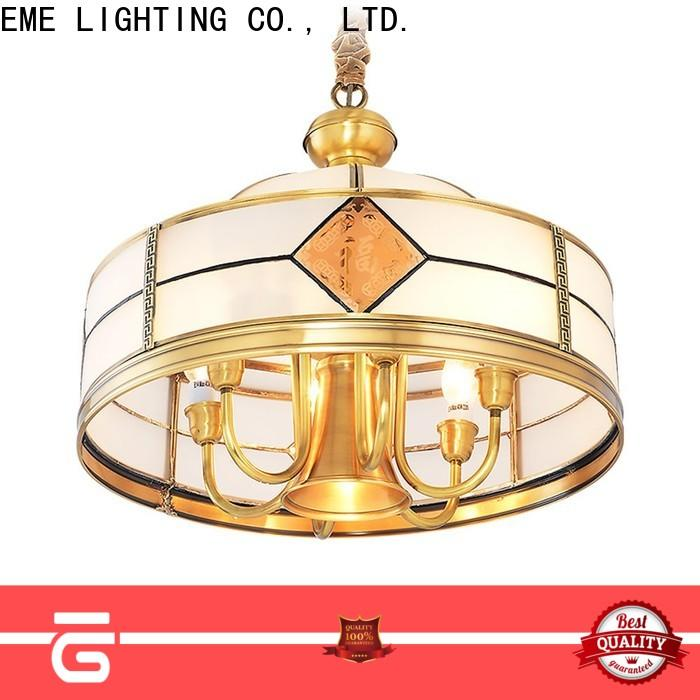 decorative solid brass chandelier american style traditional for big lobby