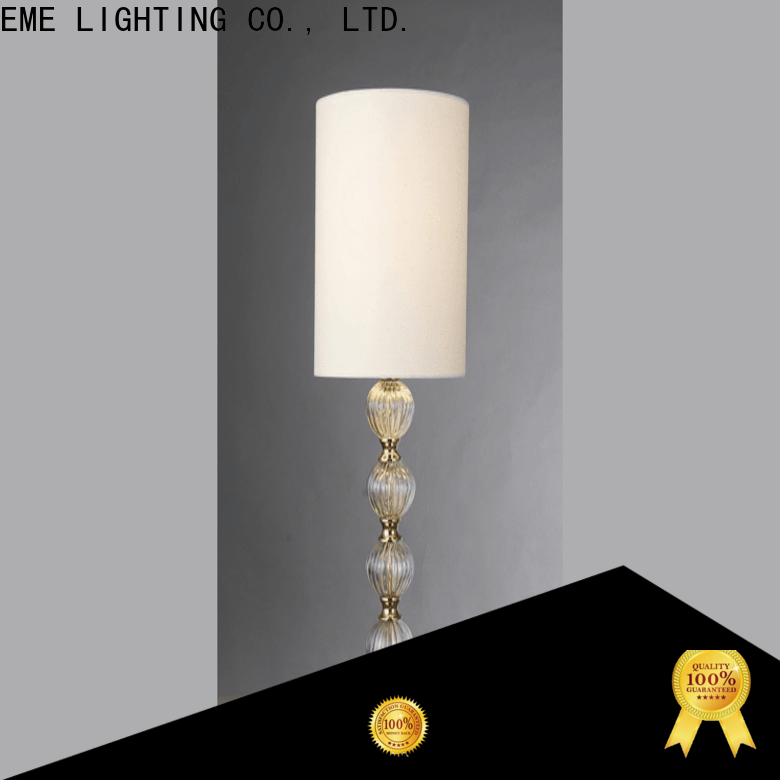 EME LIGHTING elegant glass table lamps for living room copper material for restaurant