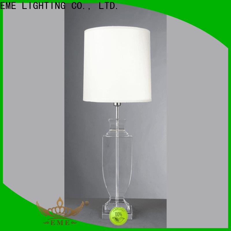EME LIGHTING vintage wood table lamp modern brass material for restaurant