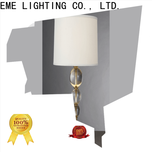 EME LIGHTING unique design wood table lamp modern copper material for house