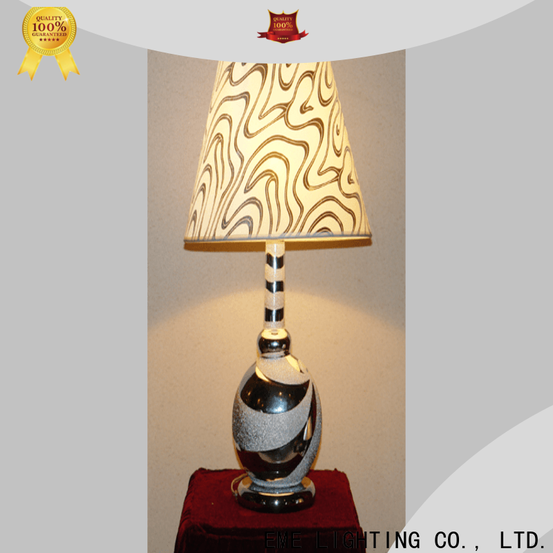 EME LIGHTING glass decorative cordless table lamps Chinese style for restaurant