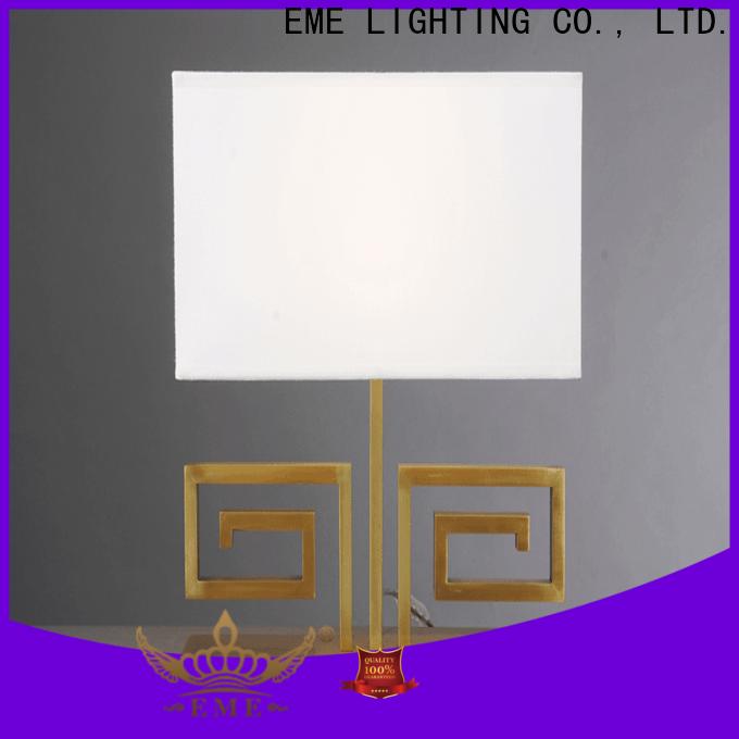 EME LIGHTING elegant wood table lamp modern bulk production for bedroom