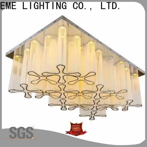 EME LIGHTING round acrylic crystal chandelier wholesale at discount for lobby