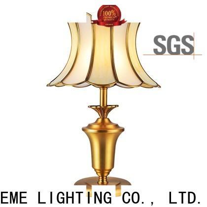 EME LIGHTING vintage glass table lamps for living room brass material for bedroom