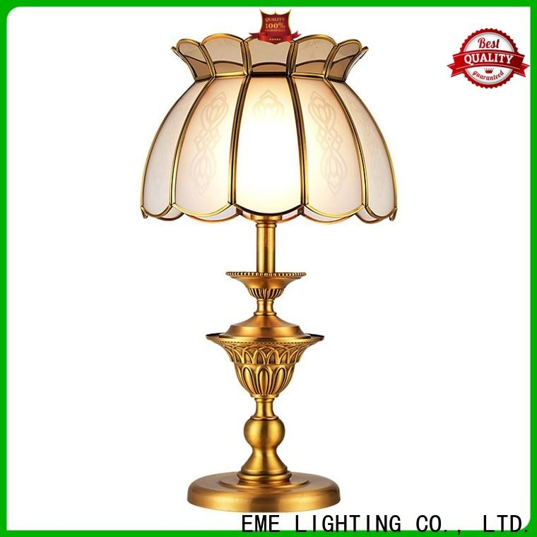 elegant glass table lamps for bedroom European style factory price for study