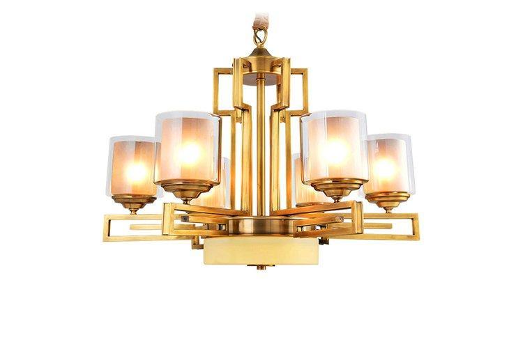 EME LIGHTING glass hanging chandelier over dining table vintage for dining room-1