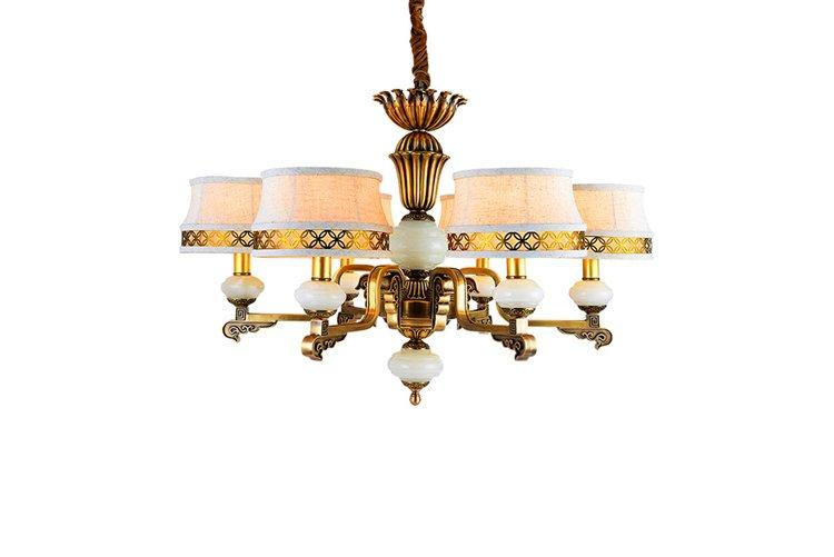 EME LIGHTING glass hanging modern brass chandelier vintage for home-1
