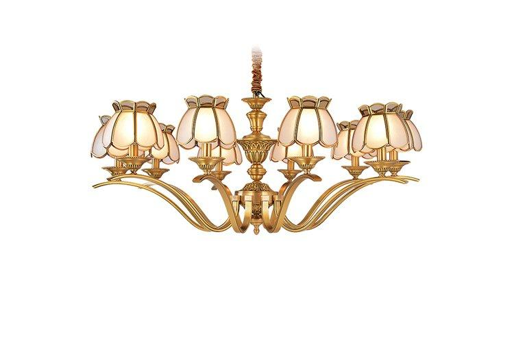 EME LIGHTING luxury bronze crystal chandelier residential for home-1