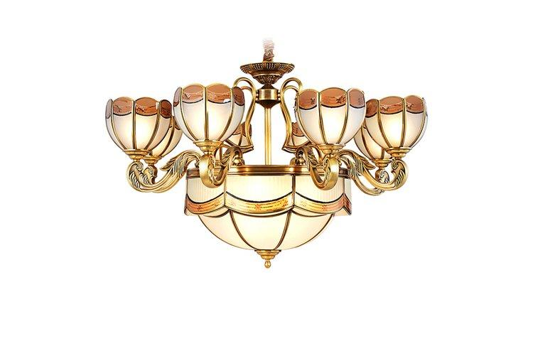 concise modern brass chandelier large round for dining room-1