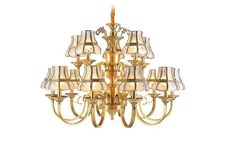 EME LIGHTING antique modern brass chandelier residential-1
