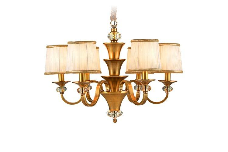 high-end contemporary pendant light copper European-1