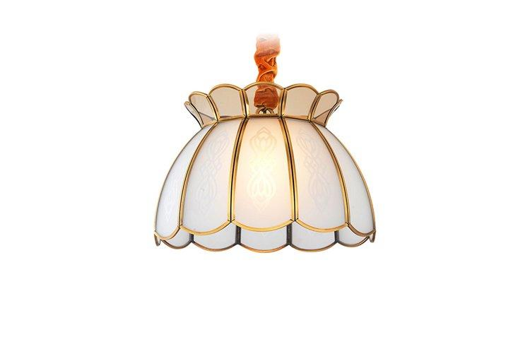 decorative brushed brass chandelier large round-1