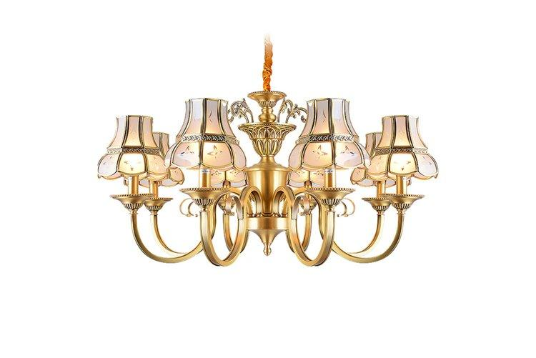 concise chandelier over dining table american style traditional for big lobby-1