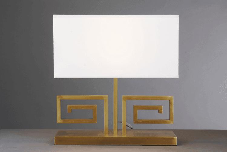 EME LIGHTING vintage glass table lamps for living room brass material for bedroom-1