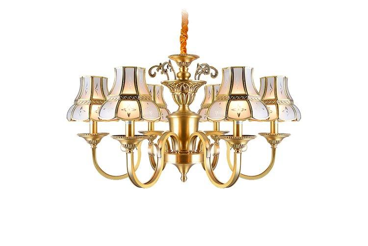 EME LIGHTING large antique copper pendant light traditional for dining room-1