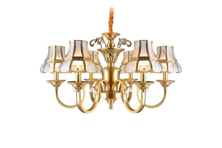 glass hanging antique brass chandelier vintage for big lobby EME LIGHTING-1