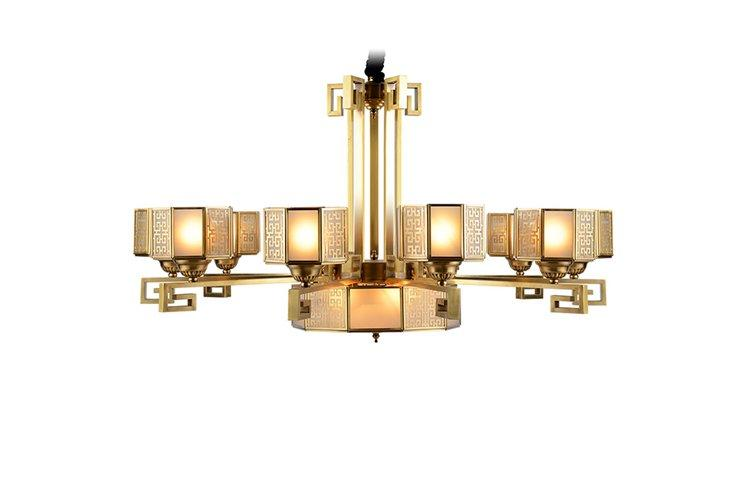 concise contemporary pendant light copper European for big lobby-1