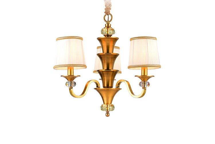 luxury solid brass chandelier american style residential for dining room-1