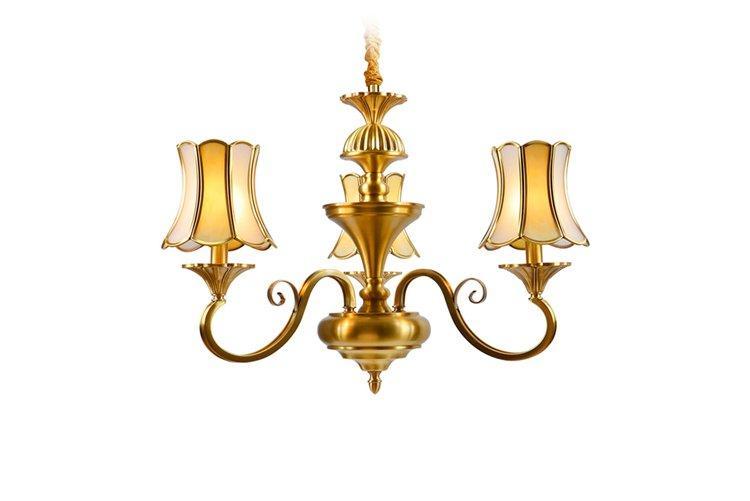 EME LIGHTING glass hanging modern brass chandelier traditional for dining room-1